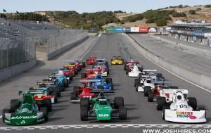 The Formula 5000 Group on-track at Mazda Raceway Laguna Seca